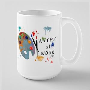 Artist At Work Large Mug