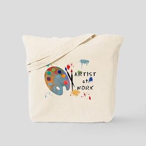 Artist At Work Tote Bag
