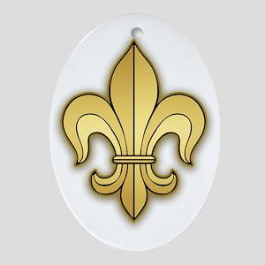 Gold Fleur de lis Ornament (Oval)