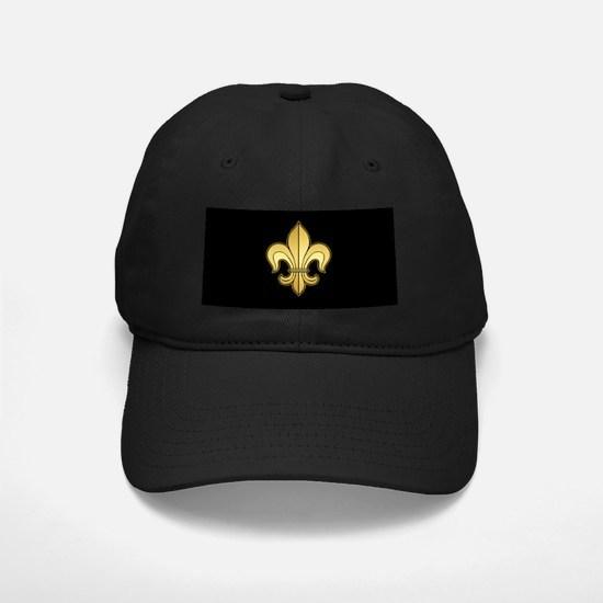 Gold Fleur de lis Baseball Hat
