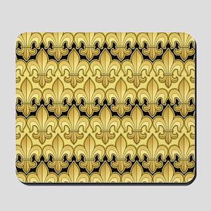 Gold Fleur de lis Mousepad