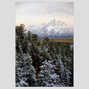 Autumn snow on Grand Teton mountains, Grand Teton