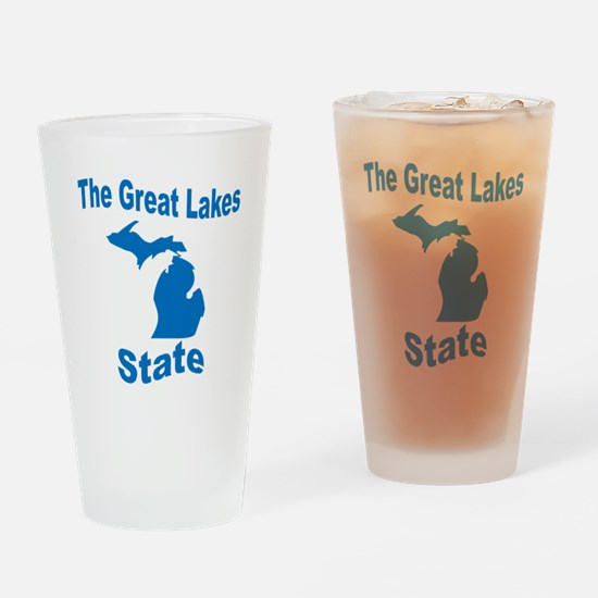 Michigan: The Great Lakes Sta Drinking Glass
