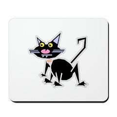 Cool Retro Cat Mousepad