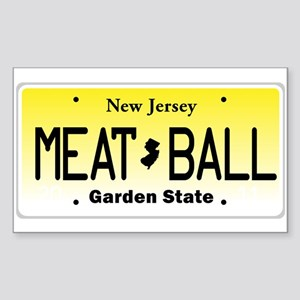 NU JOISEY, New Jersey, License Plate Sticker (Rect