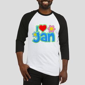 I Heart Jan Baseball Jersey