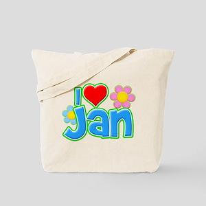 I Heart Jan Tote Bag
