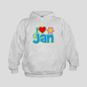 I Heart Jan Kid's Hoodie