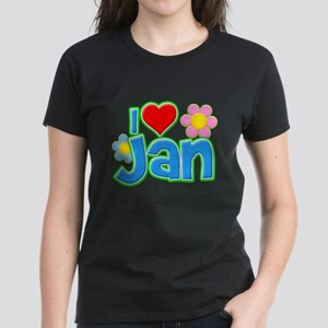 I Heart Jan Women's Dark T-Shirt