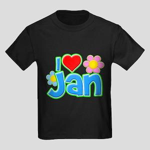 I Heart Jan Kids Dark T-Shirt