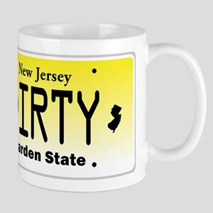 New Jersey DIRTY License Plate Mug