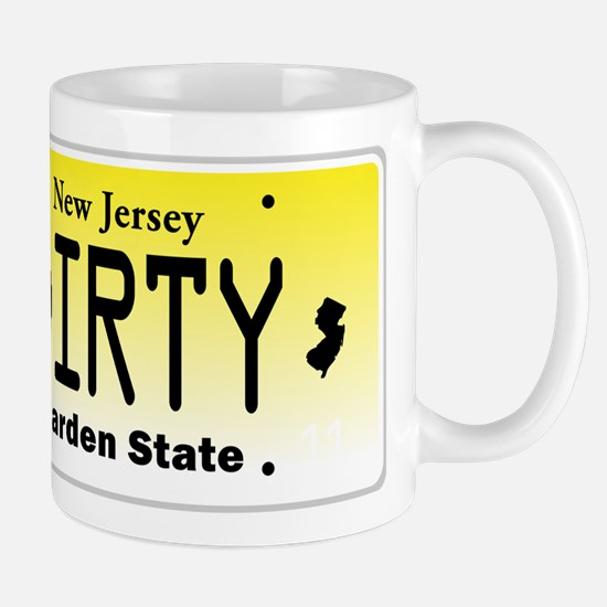 New Jersey DIRTY License Plate Mug
