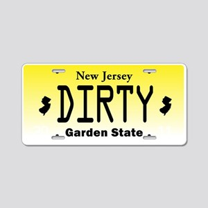 New Jersey DIRTY License Plate Aluminum License Pl