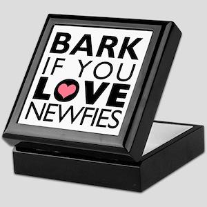 Bark If You Love Newfies Keepsake Box