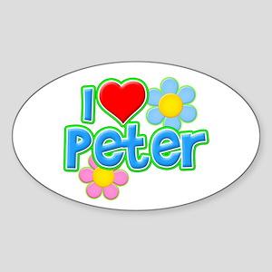 I Heart Peter Oval Sticker