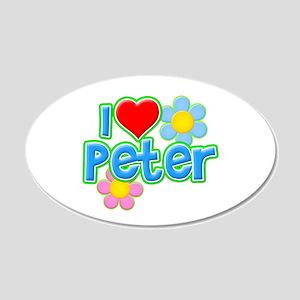 I Heart Peter 22x14 Oval Wall Peel