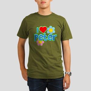 I Heart Peter Organic Men's Dark T-Shirt