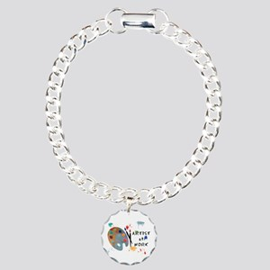 Artist At Work Charm Bracelet, One Charm