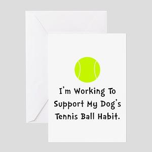 Dogs Tennis Ball Greeting Card