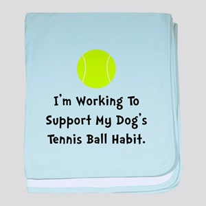 Dogs Tennis Ball baby blanket
