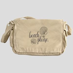 Beach, Please Funny Messenger Bag