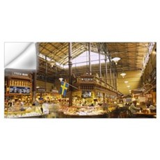 Interiors of a market, Saluhall Market, Ostermalms Wall Decal