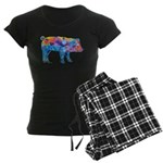Pigs of Many Colors Women's Dark Pajamas