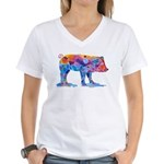 Pigs of Many Colors Women's V-Neck T-Shirt
