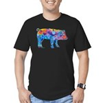 Pigs of Many Colors Men's Fitted T-Shirt (dark)