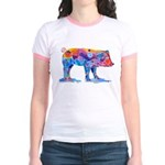Pigs of Many Colors Jr. Ringer T-Shirt