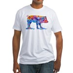 Pigs of Many Colors Fitted T-Shirt