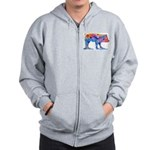 Pigs of Many Colors Zip Hoodie
