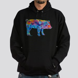 Pigs of Many Colors Hoodie (dark)