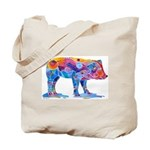 Pigs of Many Colors Tote Bag