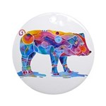 Pigs of Many Colors Ornament (Round)