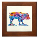 Pigs of Many Colors Framed Tile