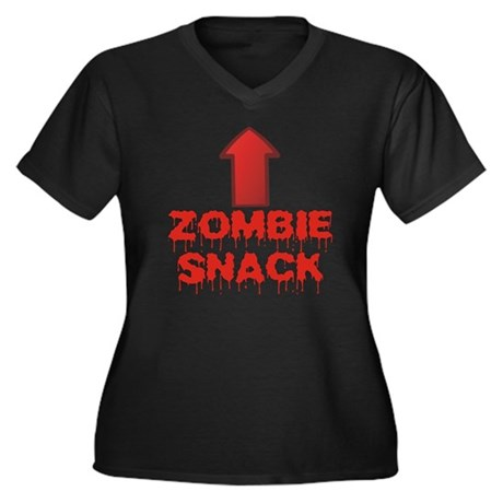 Zombie Snack Women's Plus Size V-Neck Dark T-Shirt