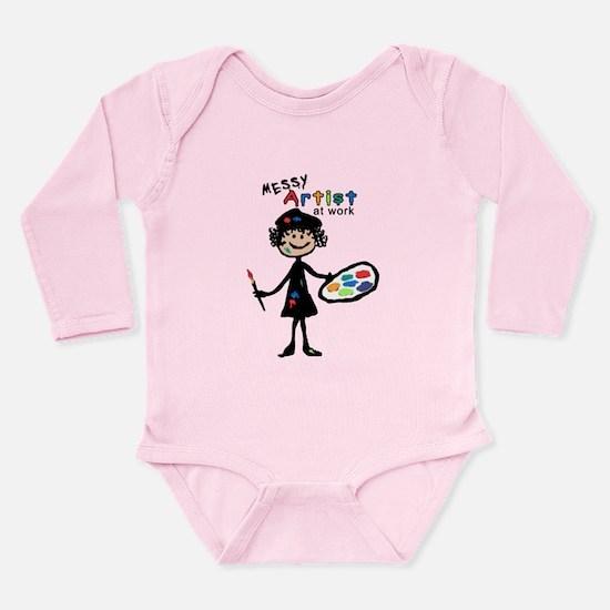 Messy Artist At Work Long Sleeve Infant Bodysuit