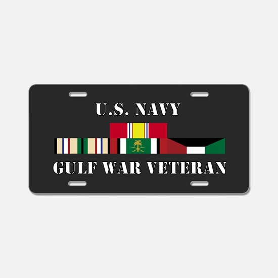 Navy Gulf War Vet Aluminum License Plate
