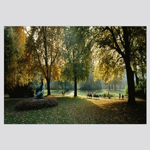 Trees in a formal garden, Le Jardin du Luxembourg,