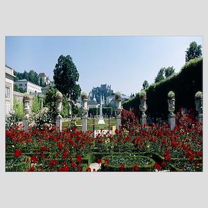 Flowers in a formal garden, Mirabell Gardens, Salz