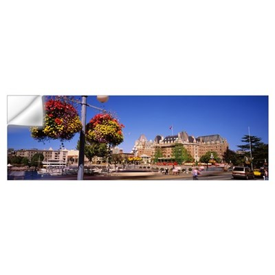 Hotel at the waterfront, Empress Hotel, Victoria, Wall Decal