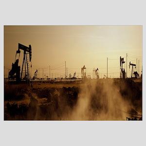 Oil drills in a field, Maricopa, Kern County, Cali