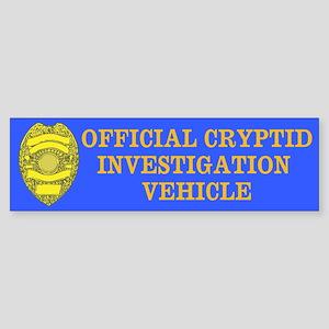 Cryptid Investigation Vehicle Sticker (Bumper)