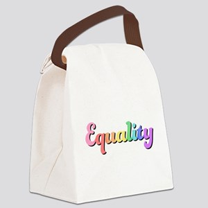 Rainbow Equality Canvas Lunch Bag