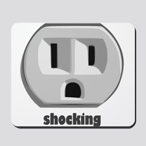 Shocking Wall Outlet Mousepad