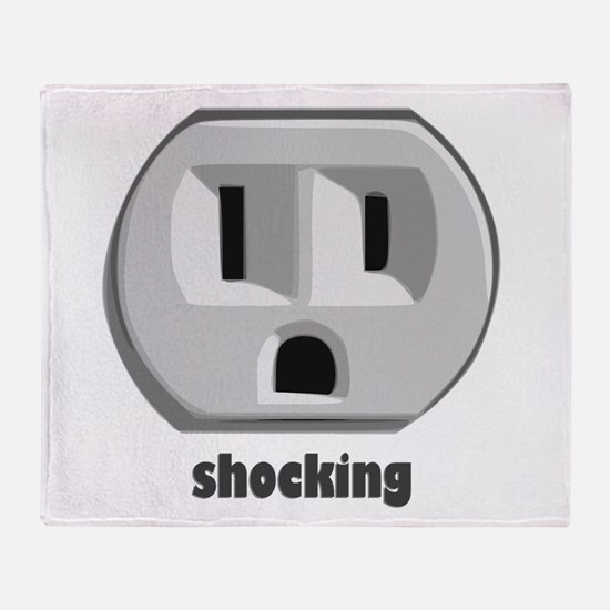 Shocking Wall Outlet Throw Blanket