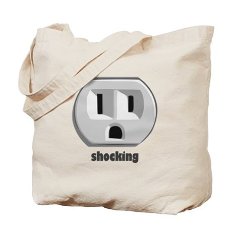 Shocking Wall Outlet Tote Bag