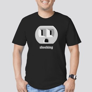 Shocking Wall Outlet Men's Fitted T-Shirt (dark)