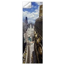 Aerial view of a cityscape, Michigan Avenue, looki Wall Decal